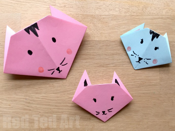 If Your Kids Are Cat Persons As I Am Hehehehe They Will Love Folding These Paper Cats