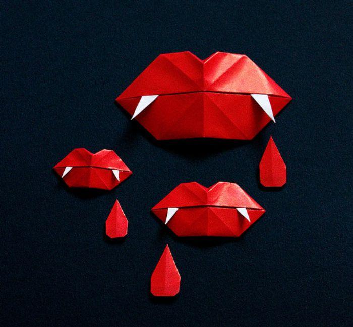Origami Vampire Fangs