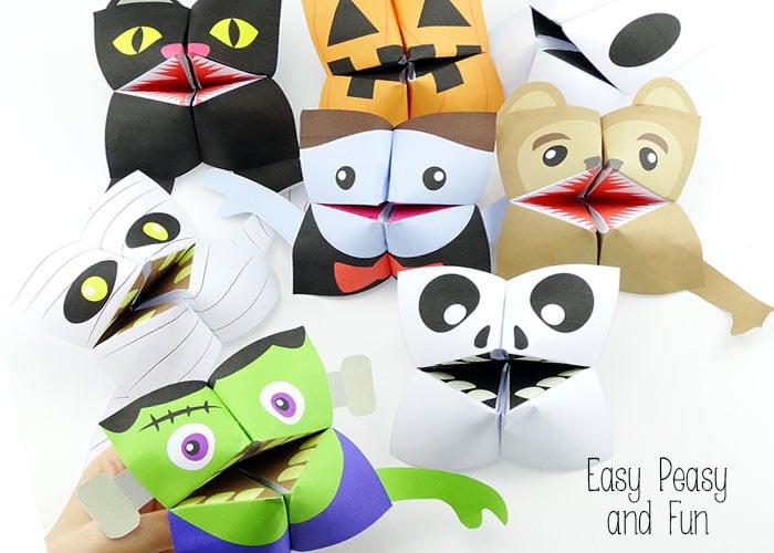 Halloween Cootie Catchers Origami For Kids Easy Peasy