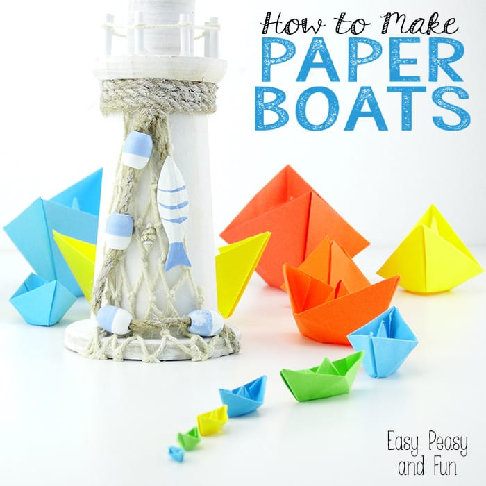 how to make a paper boat origami for kids easy peasy
