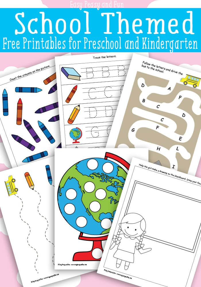 School Themed Printables For Preschool Easy Peasy And Fun