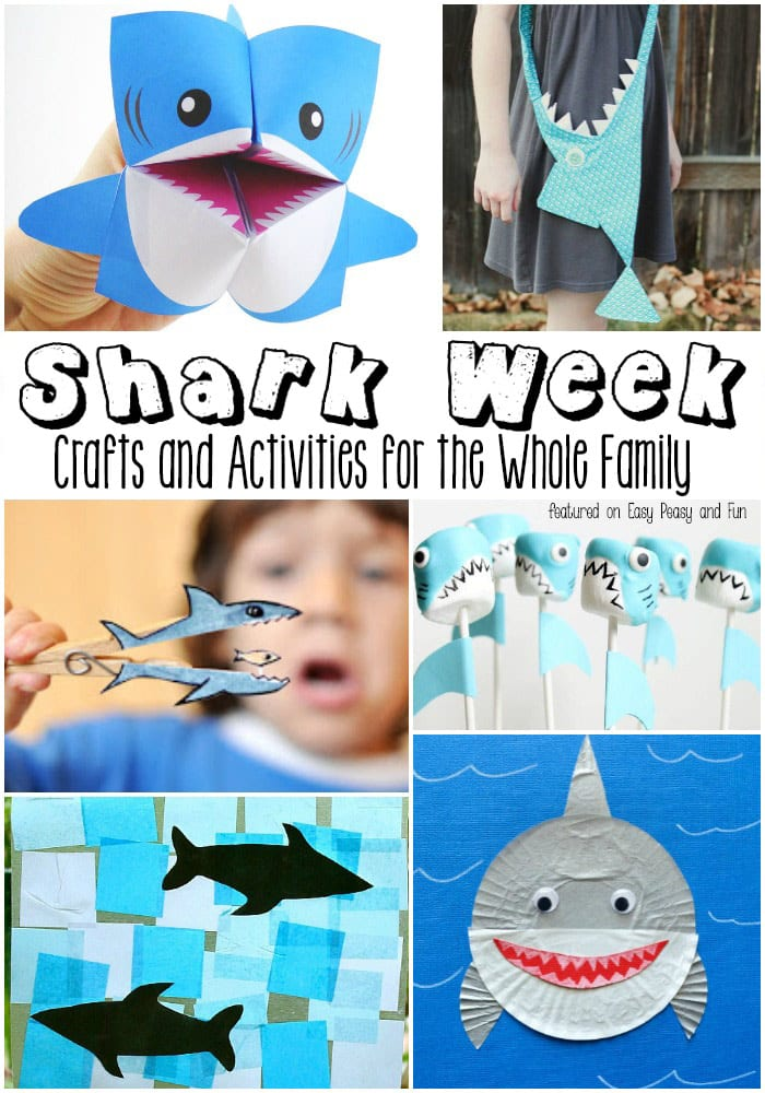 Shark Crafts and Activities for Kids - Are you ready for Shark Week?