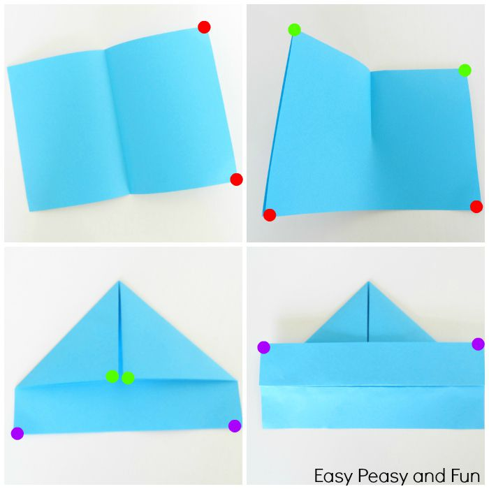Paper Boat Folding Instructions