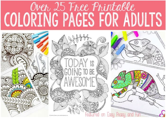 Free Coloring Pages for Adults - Easy Peasy and Fun