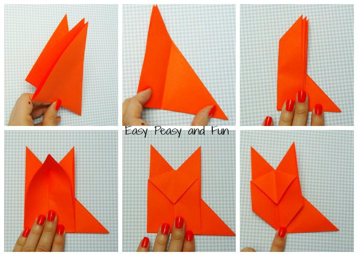 origami fox origami for kids easy peasy and fun
