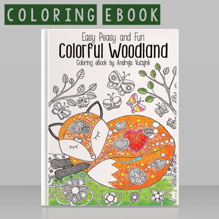Easy Peasy and Fun Colorful-Woodland Coloring eBook