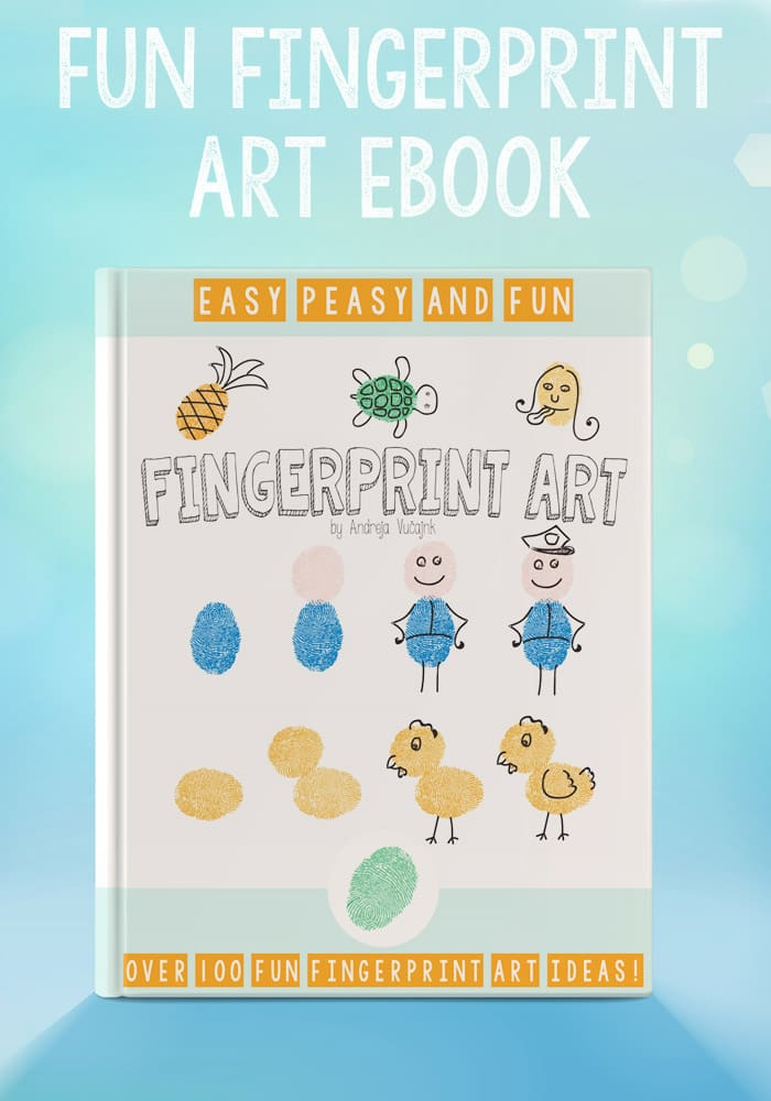 Fingerprint Art eBook - Over 100 ideas for creative fingerprint crafts!