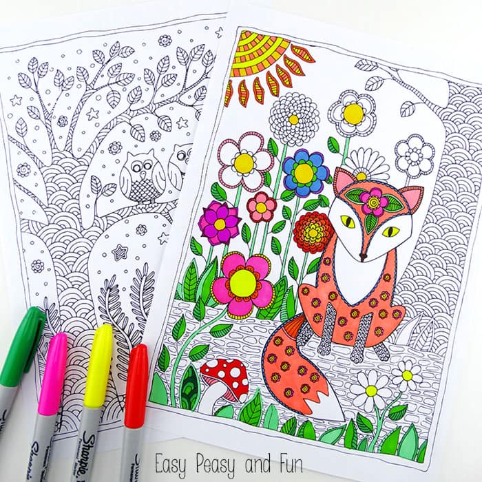 Forest Animals Coloring Pages Easy Peasy And Fun