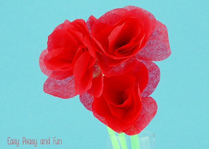 Tissue paper roses easy peasy and fun mightylinksfo