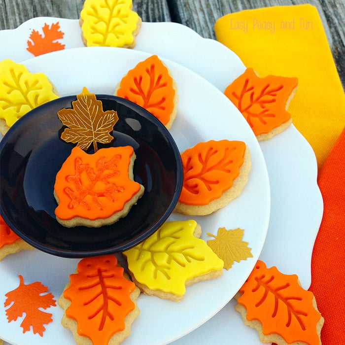 Leaf Sugar Cookies - Easy to Make Cookies Using the Leaf Cookie Cutters