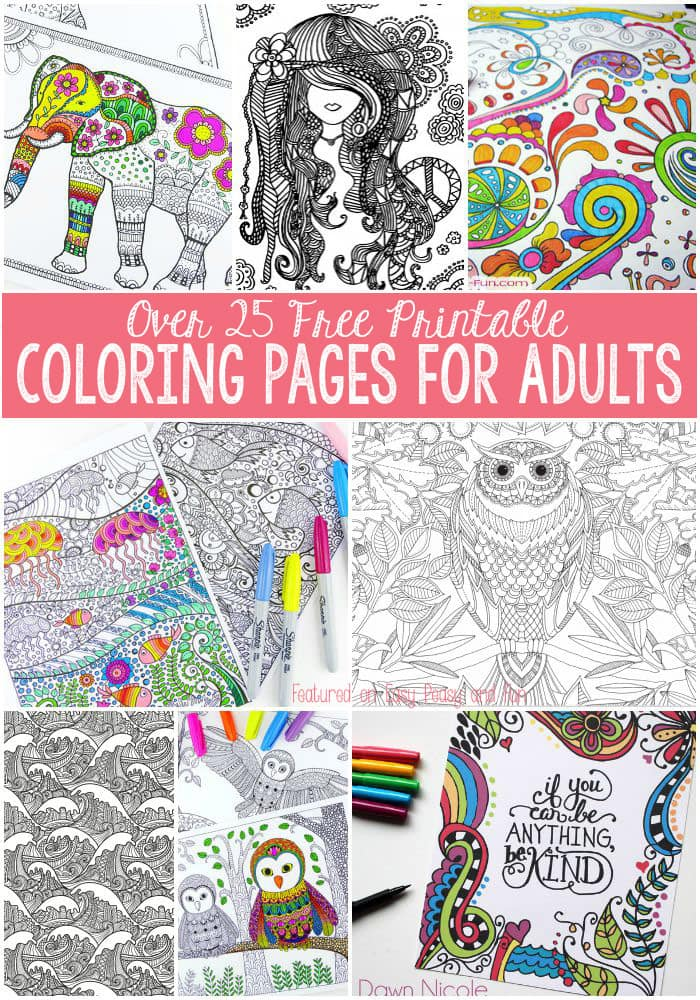 free printable coloring pages for adults - Pages Free