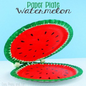 Paper Plate Crafts for Kids - Watermelon