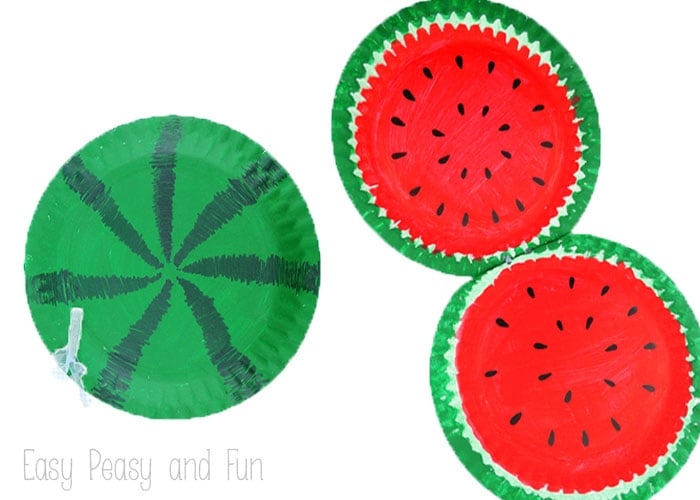 Paper Plate Crafts  - Watermelon