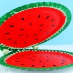 Paper Plate Watermelon – Paper Plate Crafts