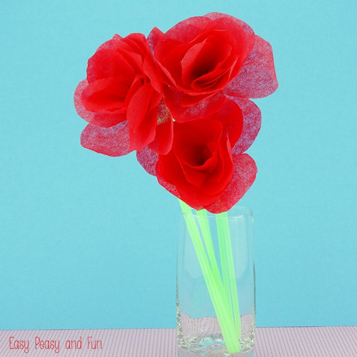 how do you make tissue paper flowers
