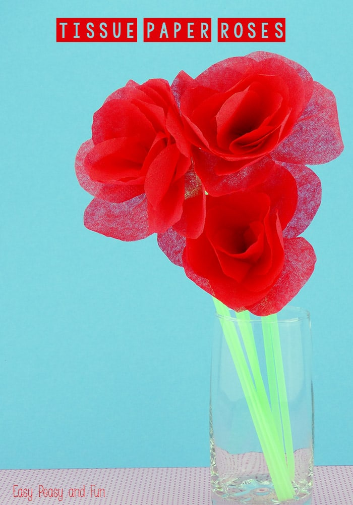 Learn how to make Tissue Paper Roses
