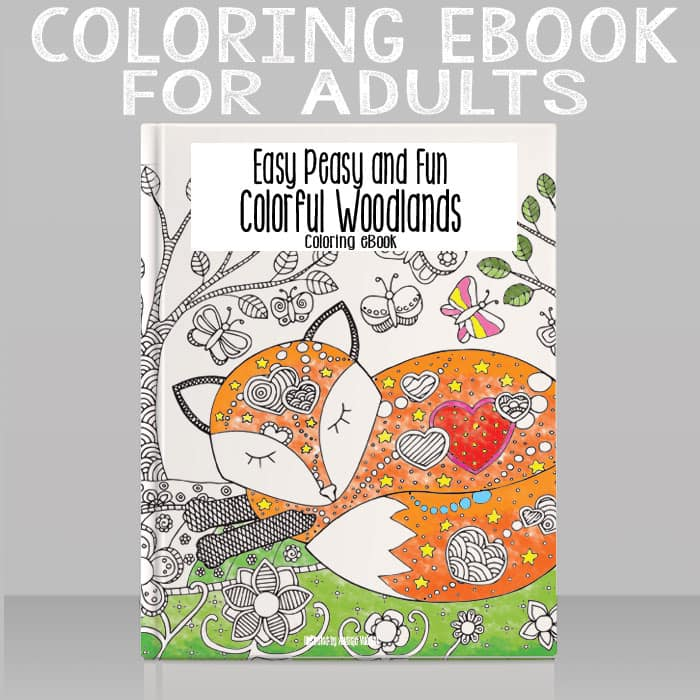 Coloring eBook for Adults - Colorful Woodlands