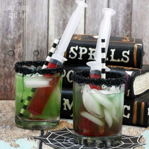 Creepy Cool Syringe Halloween Drinks