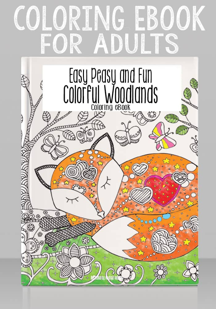 Colorful Woodland Coloring Ebook Easy Peasy And Fun