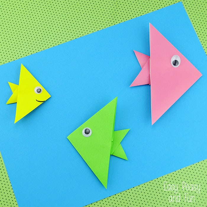 Easy Origami Fish Origami For Kids Easy Peasy And Fun