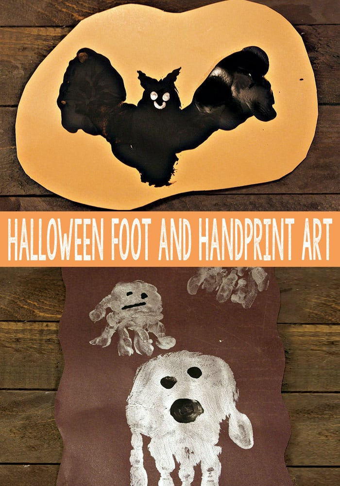 Halloween Footprint and Handprint Art