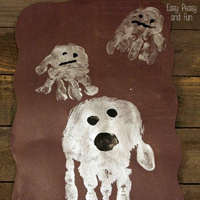 Handprint Ghost Art