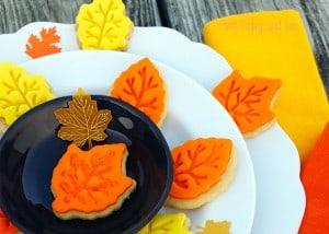 Super Easy Leaf Cookies