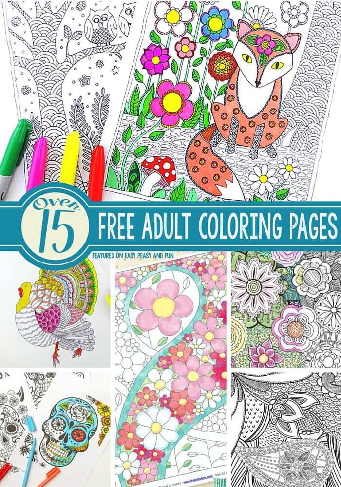 15+ Gorgeous Free Adult Coloring Pages - Easy Peasy and Fun
