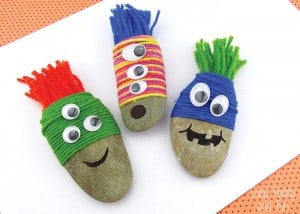Yarn Wrapped Rock Monsters – Rock Crafts