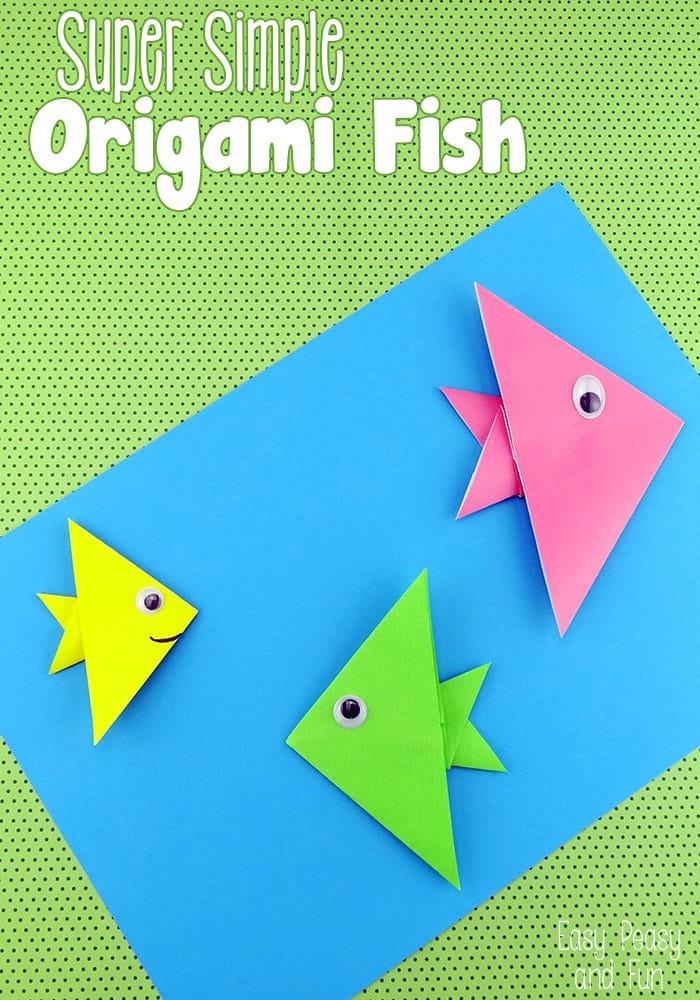 Super Simple Origami Fish For Kids