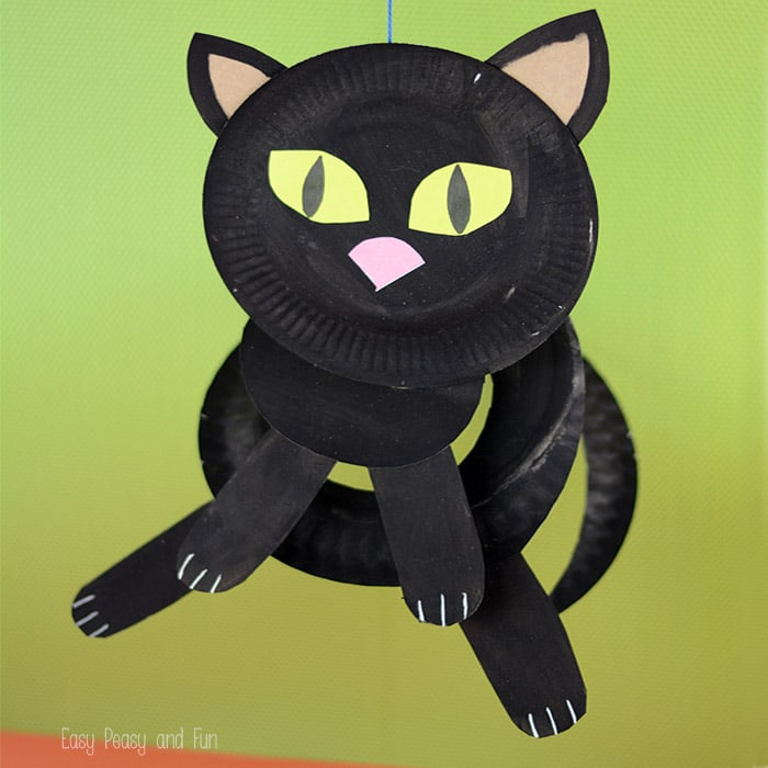 Cat Paper Plate Craft & Paper Plate Black Cat - Paper Plate Crafts for Kids - Easy Peasy and Fun