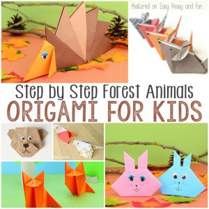 Easy Forest Animals Origami For Kids