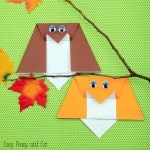 Simple Origami Owl – Origami for Kids