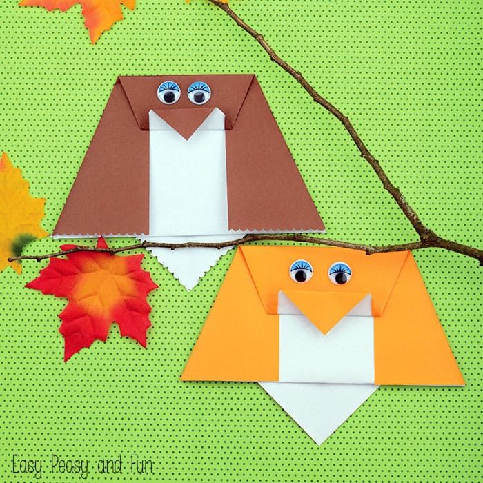 Easy Origami Owl For Kids