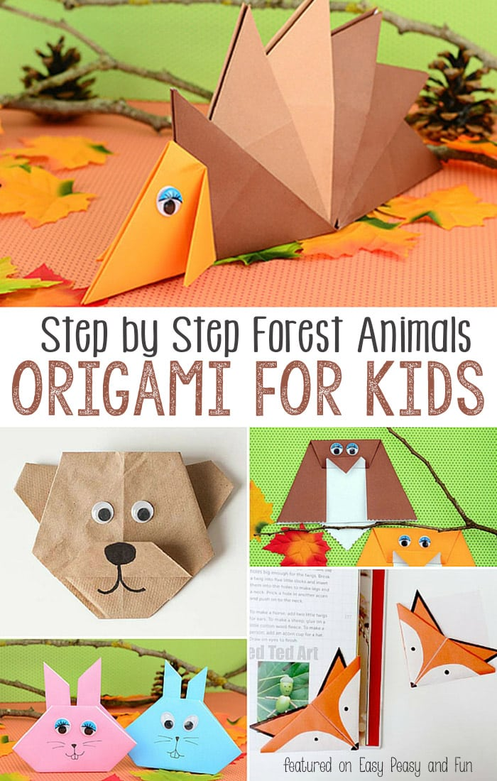 Easy Peasy And Fun: Forest Animals Origami For Kids