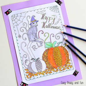 Free Halloween Coloring Page - this one will keep both kids and adults busy