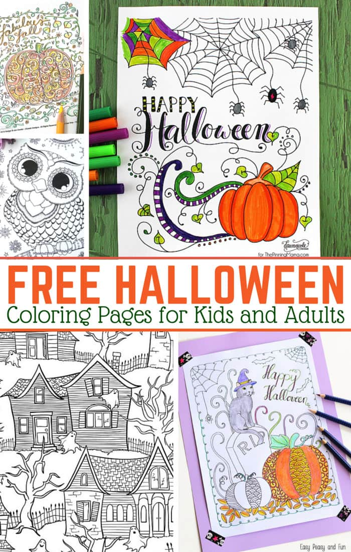 Free Halloween Coloring Pages for Adults and Kids