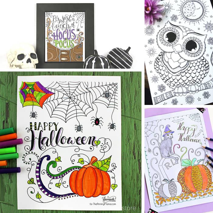 Happy Halloween Coloring Pages Free Printable For Adults