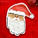 Fun Handprint Santa Salt Dough Ornament