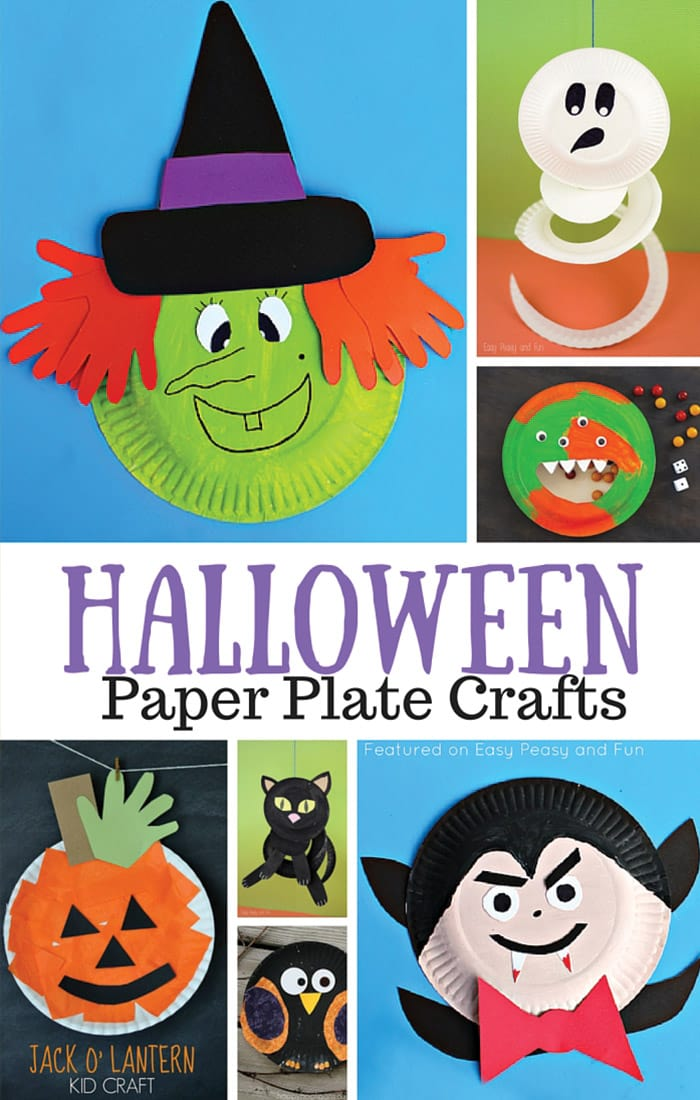Halloween paper plate crafts for kids easy peasy and fun for Crafts to make with toddlers