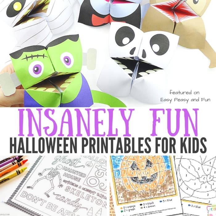 insanely fun halloween printables for kids easy peasy