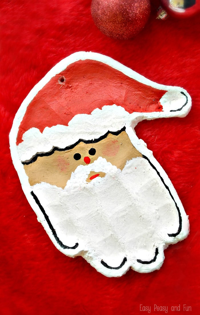 Handprint Santa Salt Dough Ornament - this Christmas craft is a must make