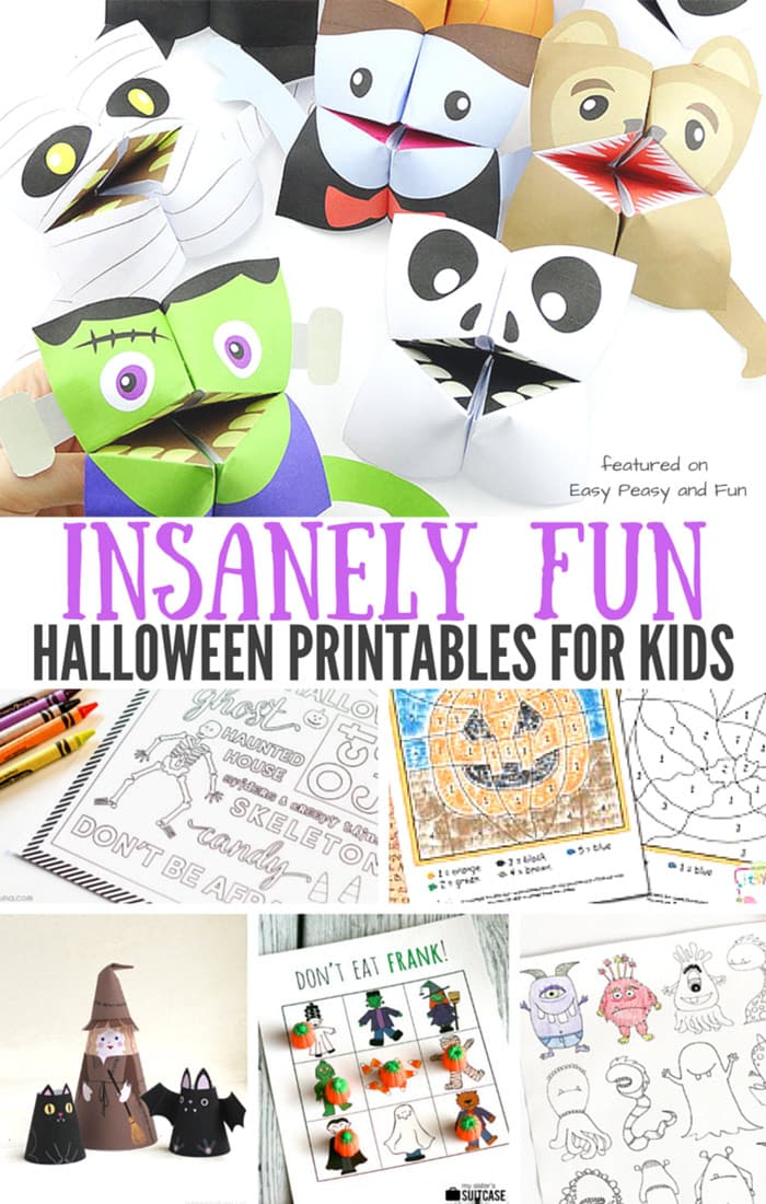 Insanely Fun Halloween Printables for Kids - Easy Peasy and Fun