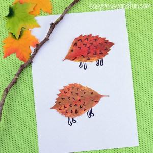Leaf Hedgehogs Craft for Kids