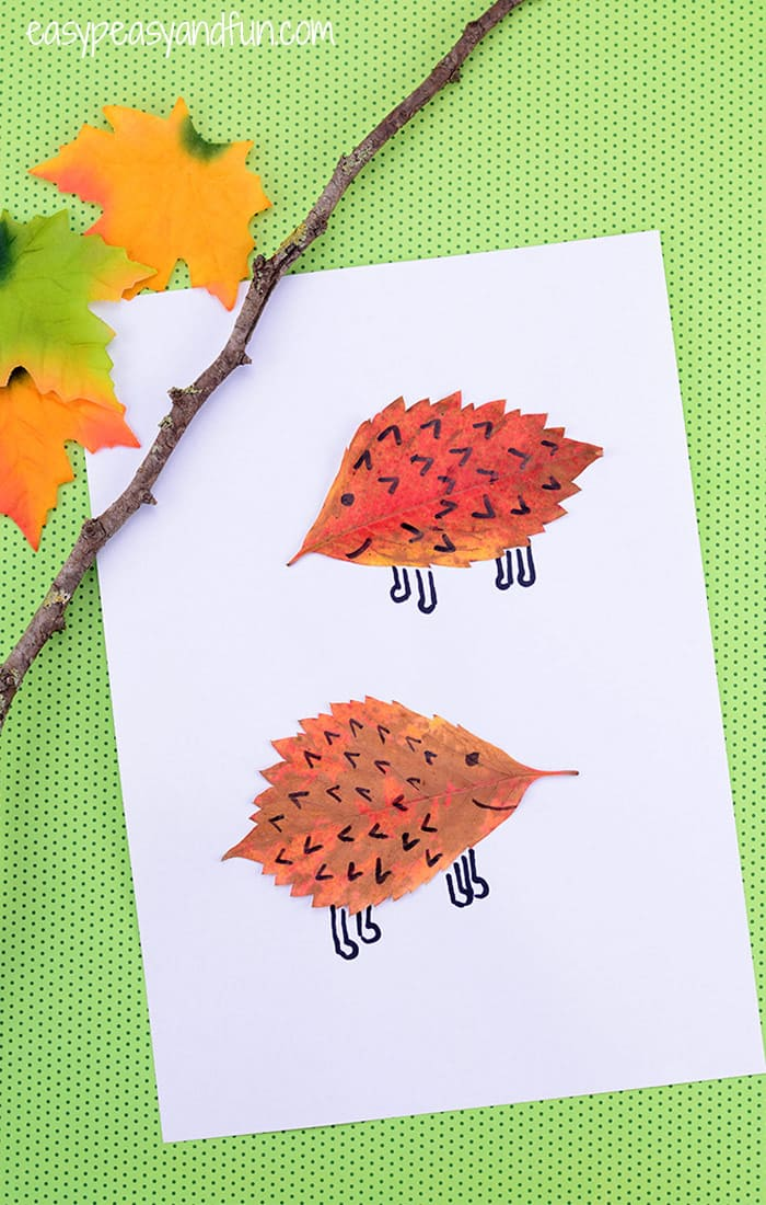 Leaf Hedgehogs Craft