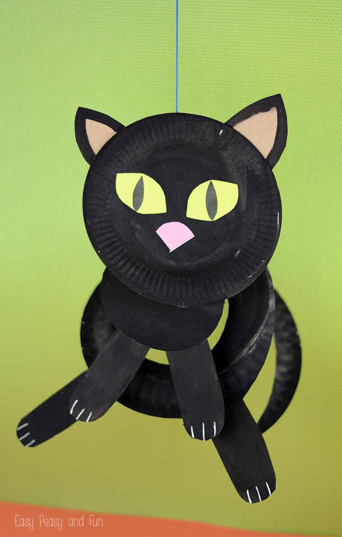 Paper Plate Black Cat - Paper Plate Crafts for Kids