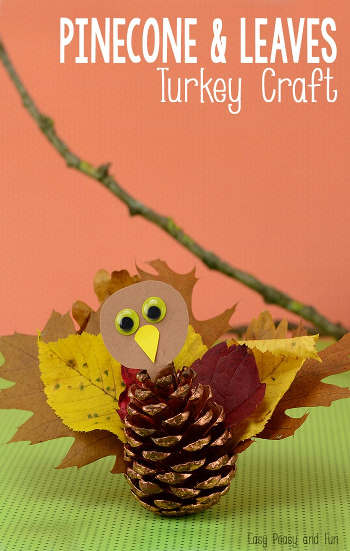 Pinecone & Leaves Turkey Craft