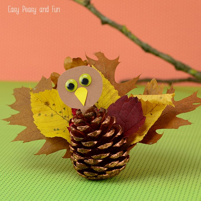 Pinecone Turkey Craft