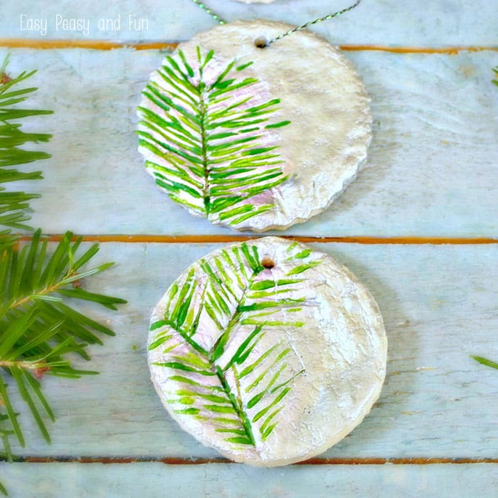 Pine Stamped Salt Dough Ornaments – Christmas Ornaments