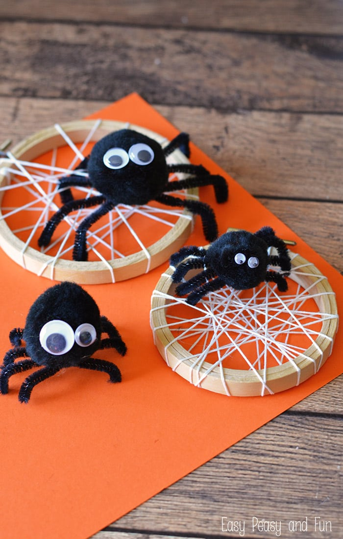 toddler halloween crafts silly spider craft easy peasy and 3121